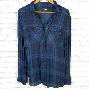 URBAN OUTFITTERS BDG Blue Flannel S
